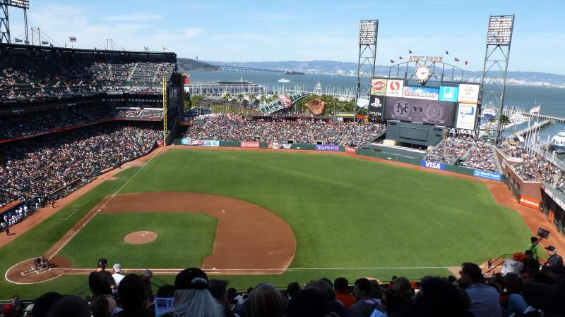 Seating view for AT&T Park Section 307 Row 12 Seat 21