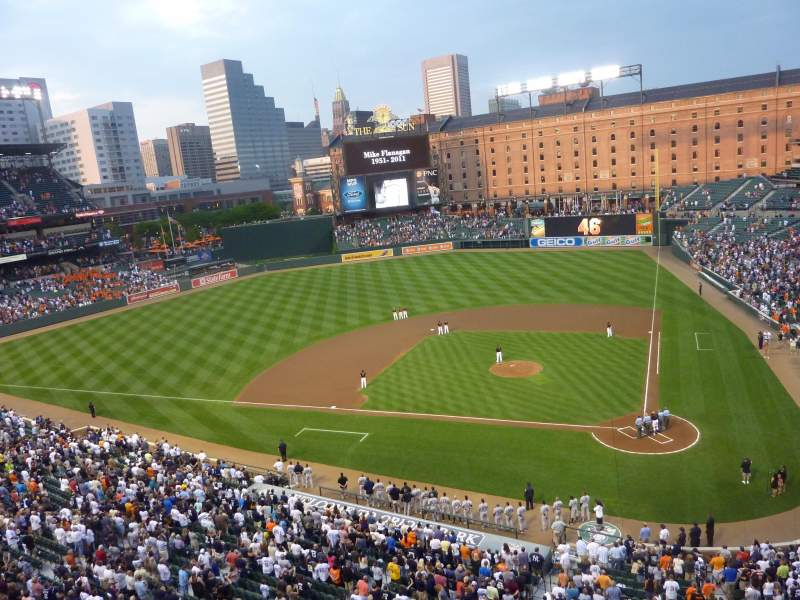 Seating view for Oriole Park at Camden Yards Section 246 Row 1 Seat 7