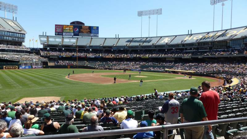 Seating view for Oakland Alameda Coliseum Section 126R Row 22 Seat 2