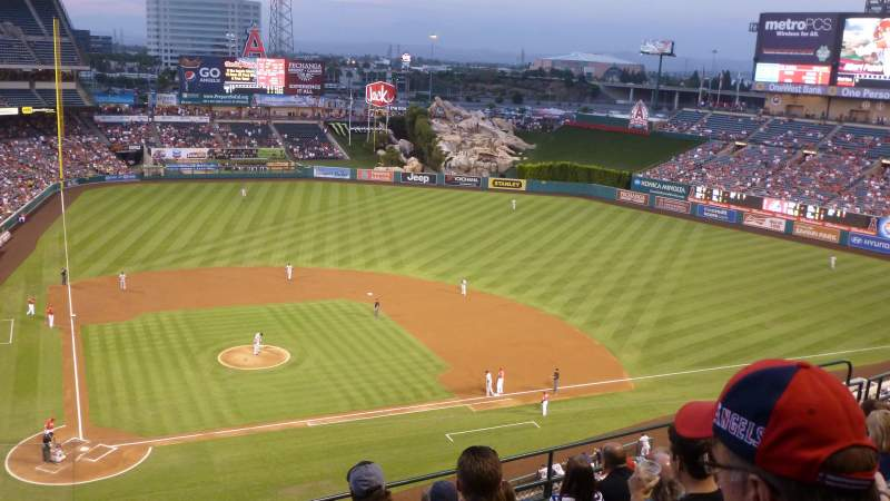 Seating view for Angel Stadium Section 423 Row G Seat 1