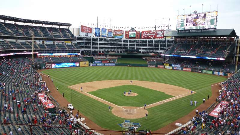 Seating view for Globe Life Park in Arlington Section Wandered behind home after the