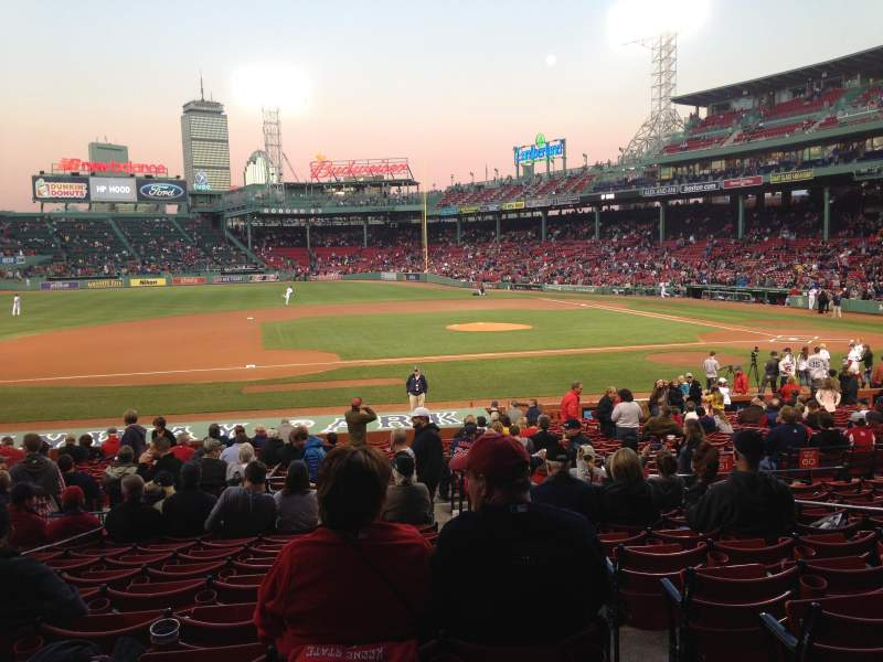 Seating view for Fenway Park Section Loge Box 149 Row LL Seat 1