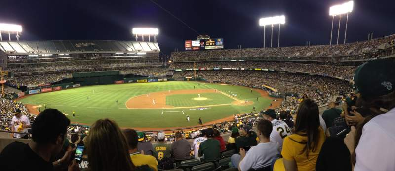Seating view for Oakland Alameda Coliseum Section 222 Row 6 Seat 18