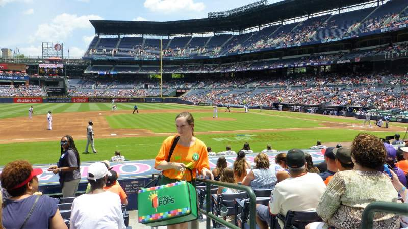 Seating view for Turner Field Section 114L Row 13 Seat 101