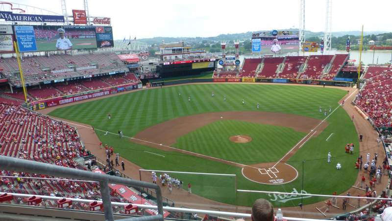 Seating view for Great American Ball Park Section 422 Row D Seat 15