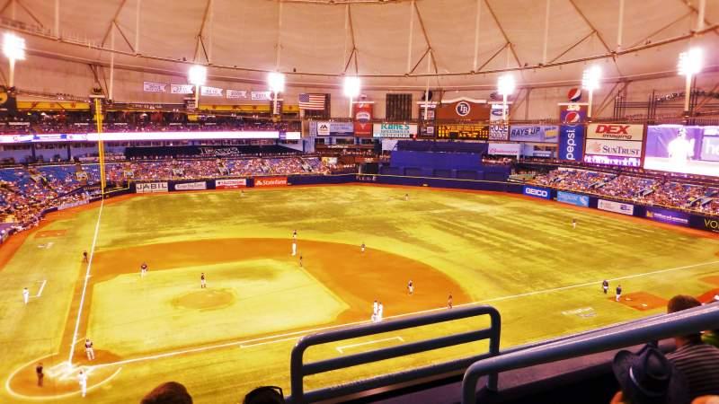 Tropicana Field, section: 308, row: C, seat: 19