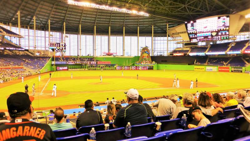 Seating view for Marlins Park Section 10 Row 5 Seat 19
