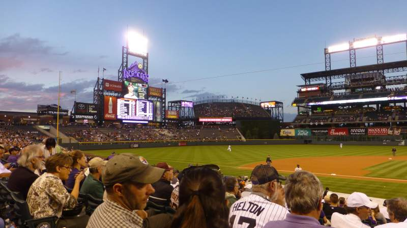 Seating view for Coors Field Section 137 Row 19 Seat 10