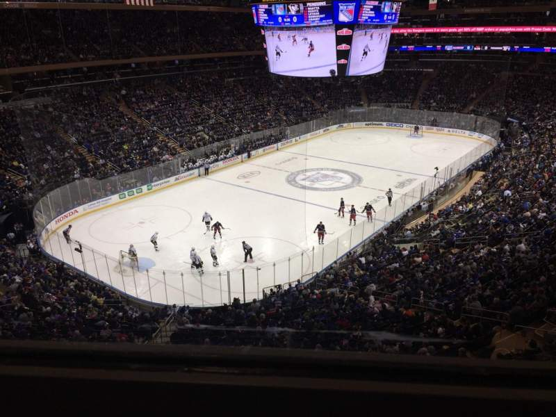 Seating view for Madison Square Garden Section 419 Row 1 Seat 16
