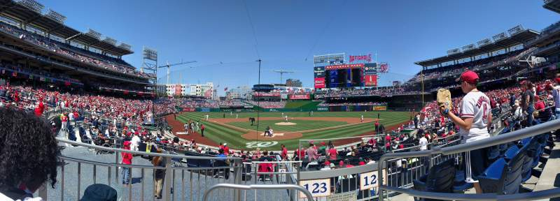 Seating view for Nationals Park Section 123 Row C Seat 1