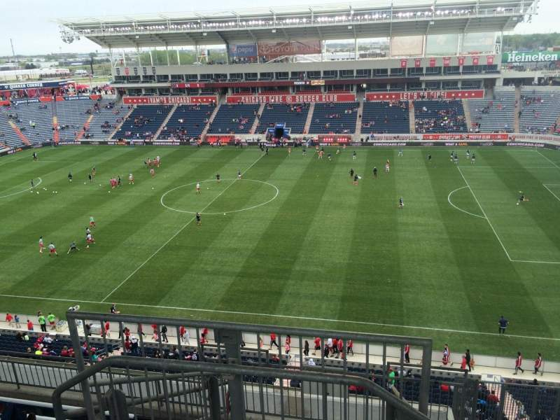 Seating view for Toyota Park Section 205 Row 13 Seat 24