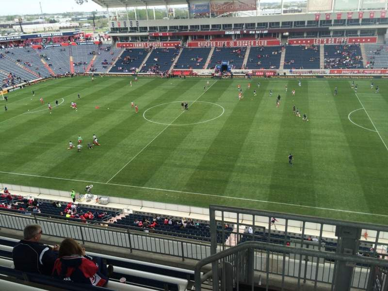 Seating view for Toyota Park Section 206 Row 13 Seat 1