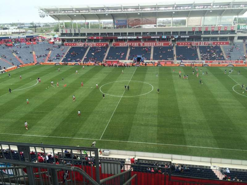 Seating view for Toyota Park Section 206 Row 13 Seat 31