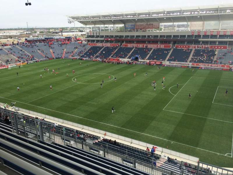 Seating view for Toyota Park Section 204 Row 13 Seat 1