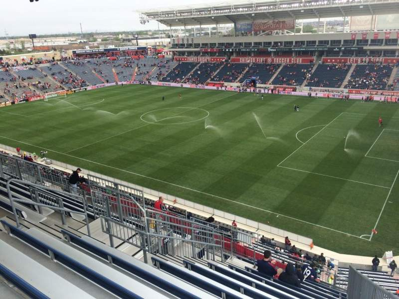 Seating view for Toyota Park Section 203 Row 13 Seat 1