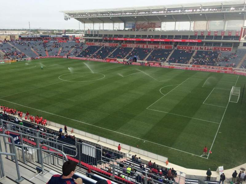 Seating view for Toyota Park Section 203 Row 7 Seat 1