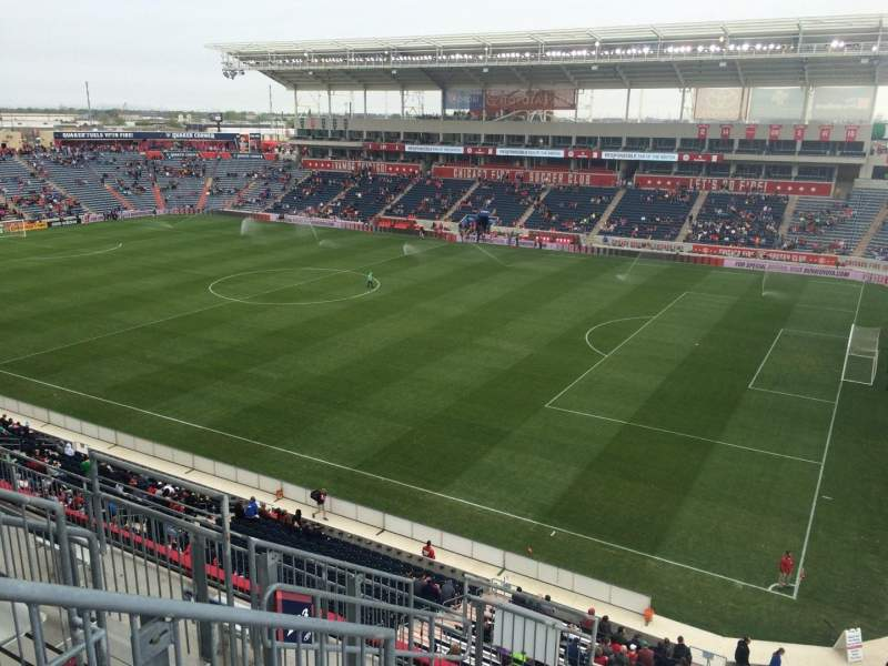 Seating view for Toyota Park Section 203 Row 7 Seat 7