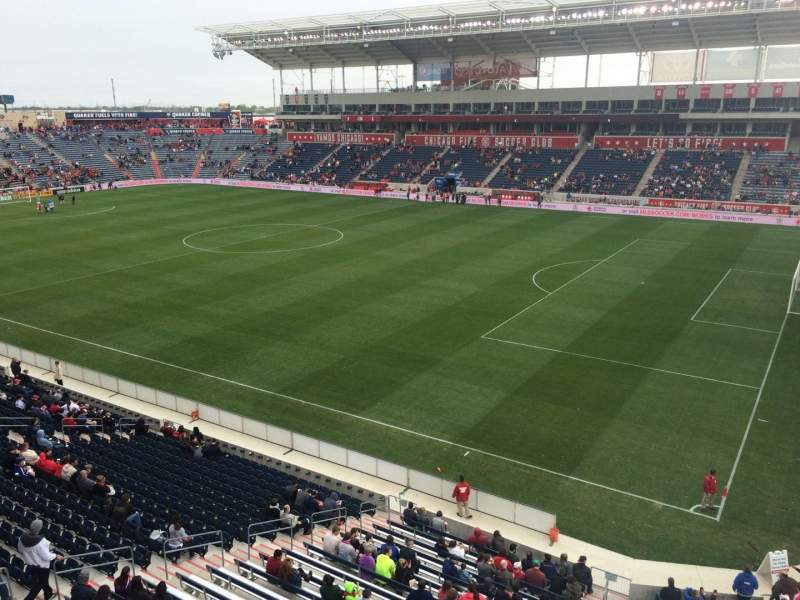 Seating view for Toyota Park Section 203 Row 1 Seat 1