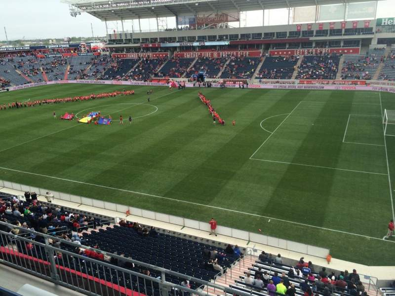 Seating view for Toyota Park Section 204 Row 4 Seat 1