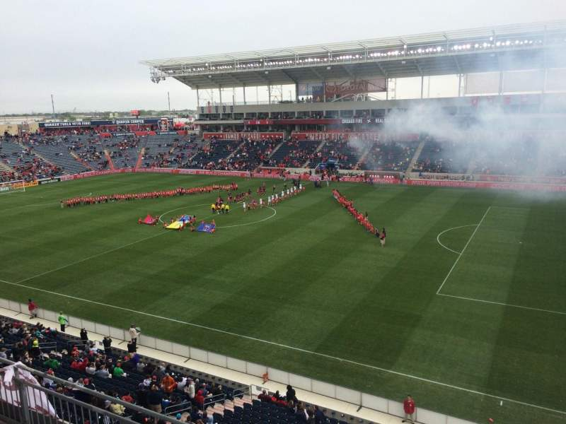 Seating view for Toyota Park Section 204 Row 4 Seat 13