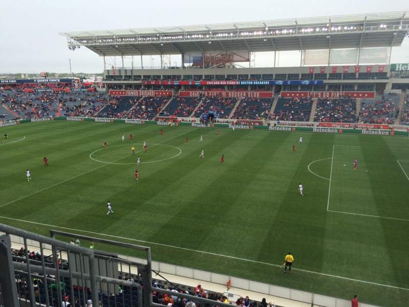 Seating view for Toyota Park Section 204 Row 4 Seat 29