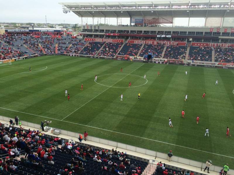 Seating view for Toyota Park Section 206 Row 7 Seat 1
