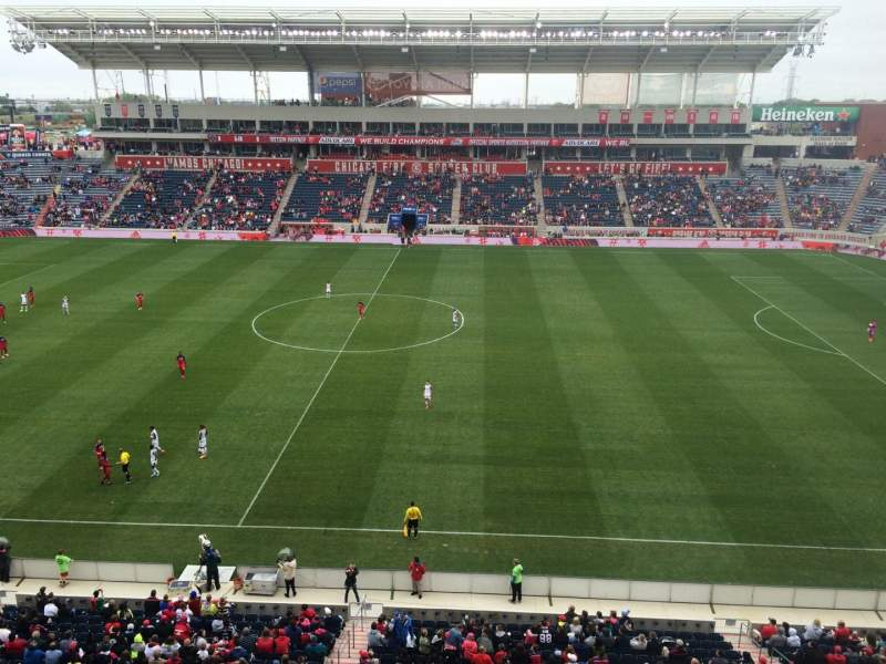 Seating view for Toyota Park Section 206 Row 7 Seat 25