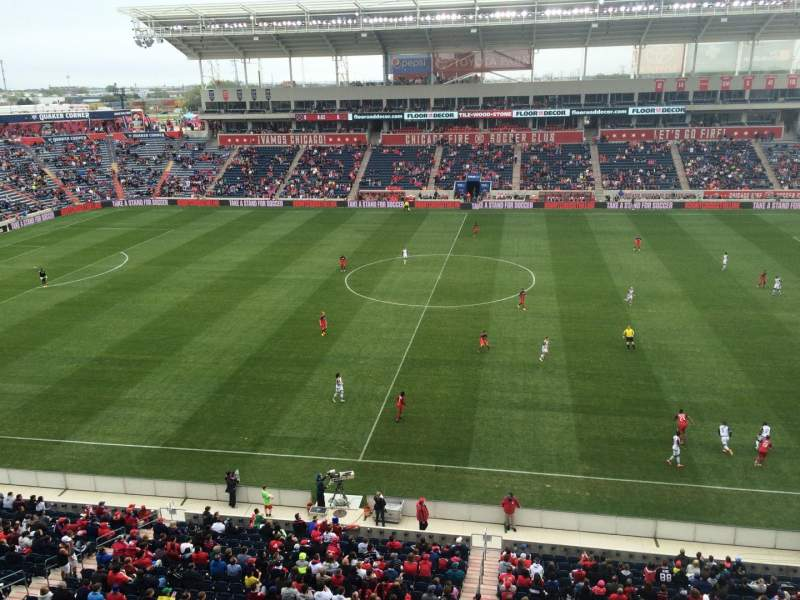 Seating view for Toyota Park Section 207 Row 7 Seat  1