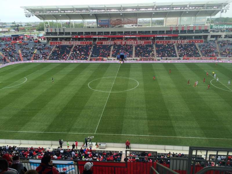 Seating view for Toyota Park Section 207 Row 12 Seat 1