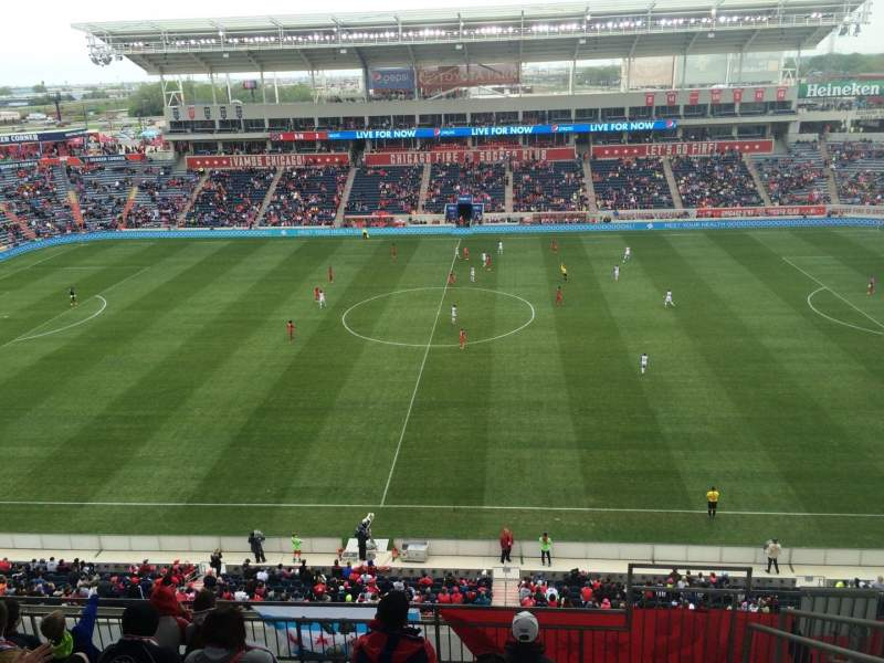 Seating view for Toyota Park Section 207 Row 13 Seat 6