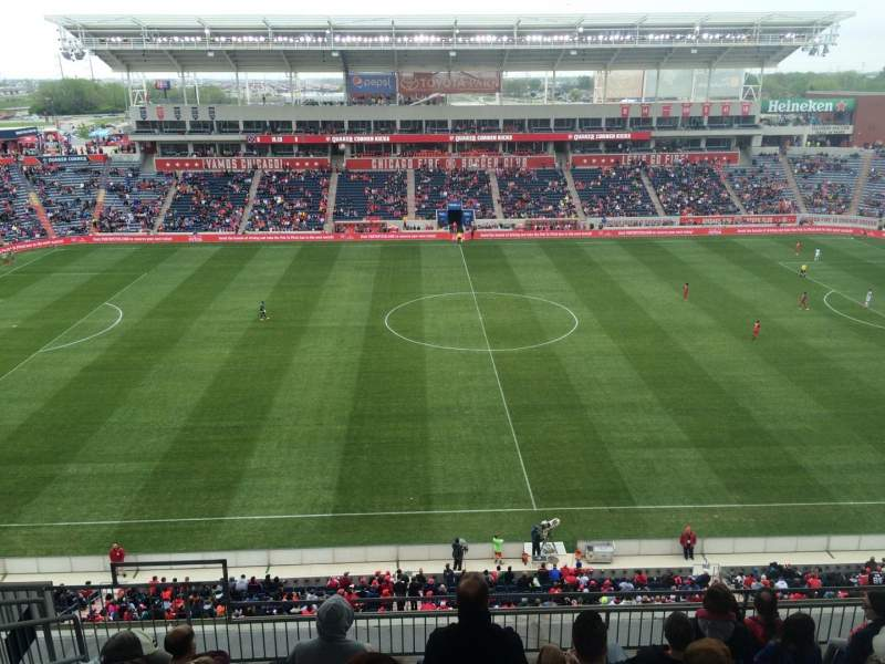 Seating view for Toyota Park Section 207 Row 13 Seat 32