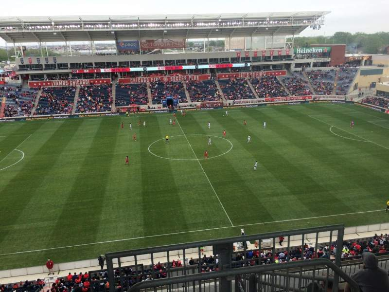 Seating view for Toyota Park Section 208 Row 13 Seat 1