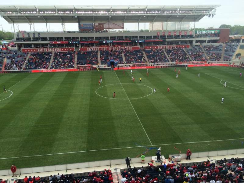 Seating view for Toyota Park Section 207 Row 7 Seat 34