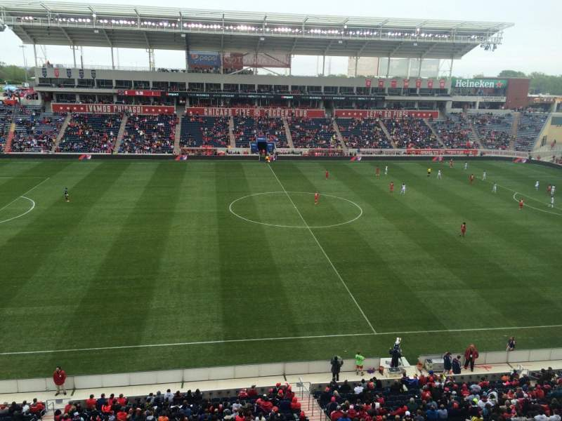 Seating view for Toyota Park Section 208 Row 7 Seat 1