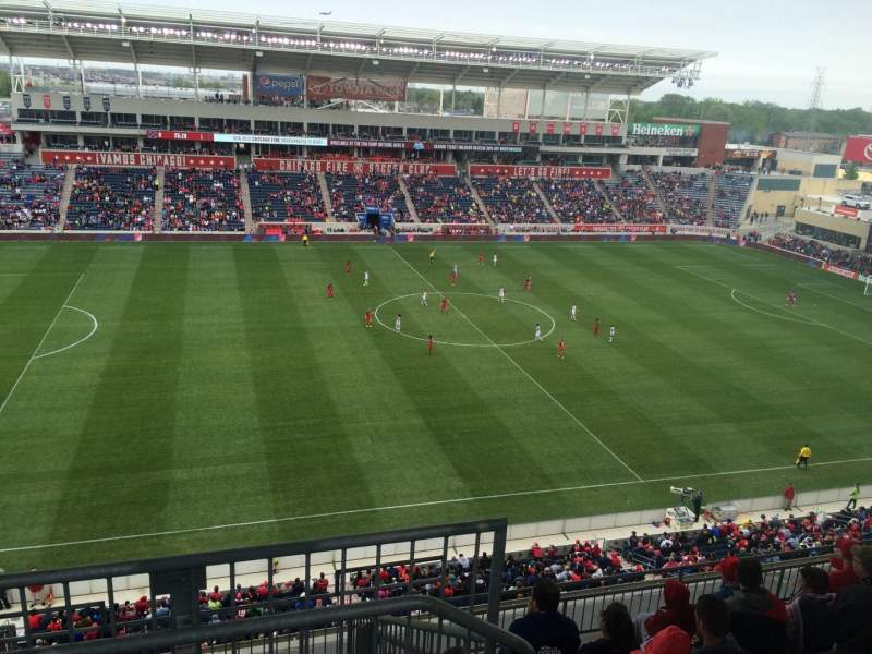 Seating view for Toyota Park Section 209 Row 13 Seat 1