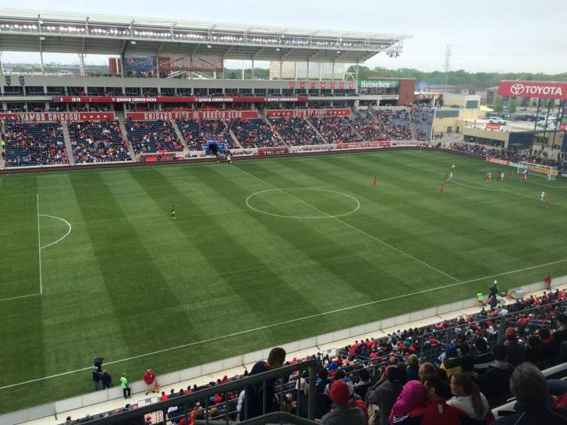 Seating view for Toyota Park Section 210 Row 10 Seat 1