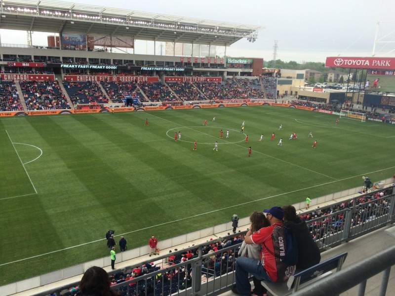Seating view for Toyota Park Section 210 Row 4 Seat 12