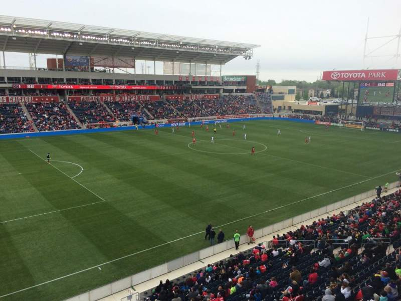 Seating view for Toyota Park Section 211 Row 1 Seat 1