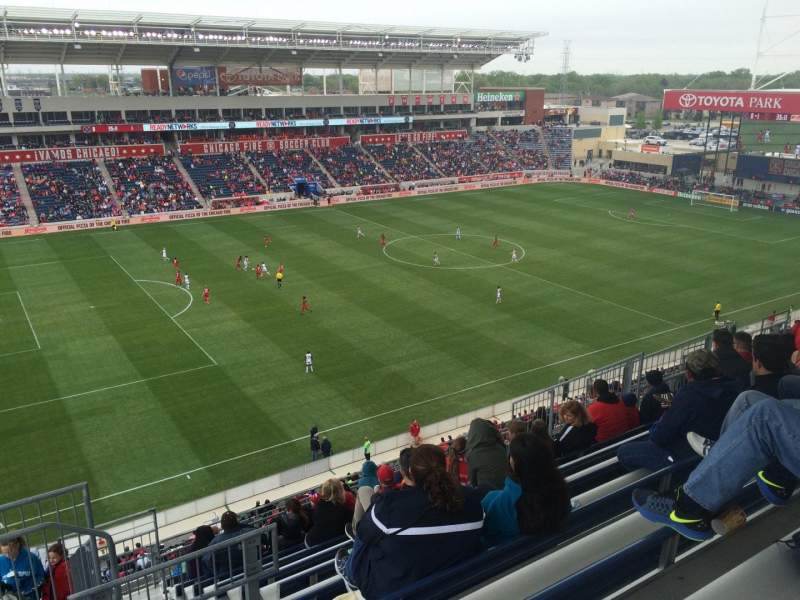 Seating view for Toyota Park Section 210 Row 13 Seat 25
