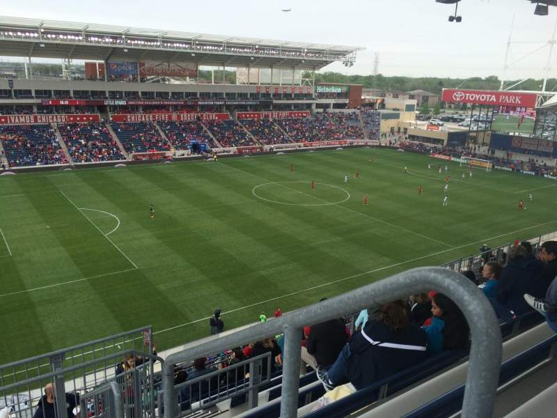 Seating view for Toyota Park Section 211 Row 13 Seat 1