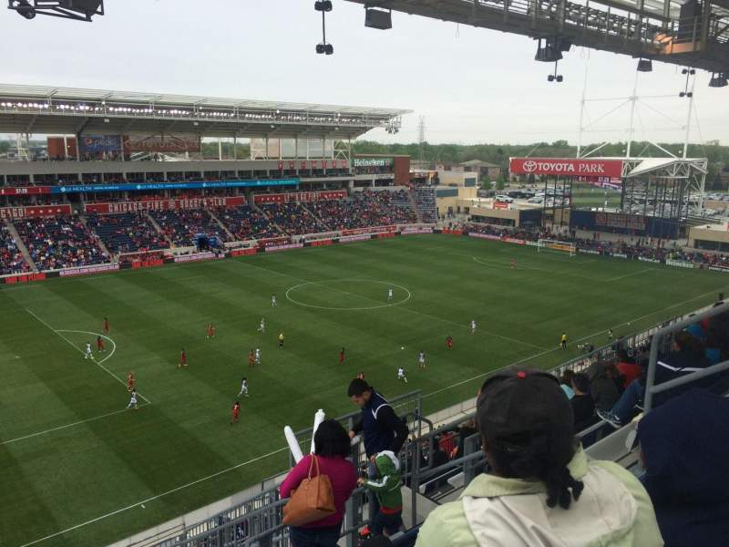 Seating view for Toyota Park Section 211 Row 13 Seat 10