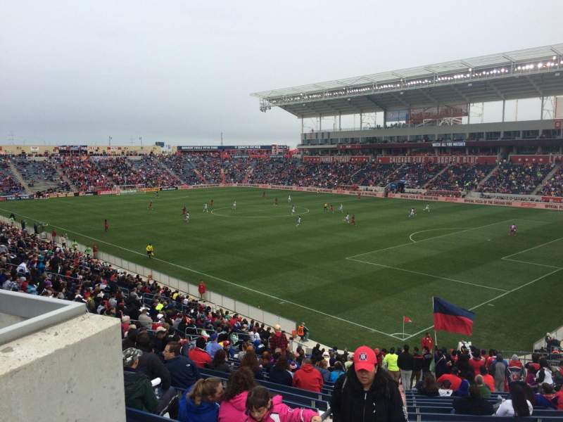 Seating view for Toyota Park Section 101 Row 27 Seat 14