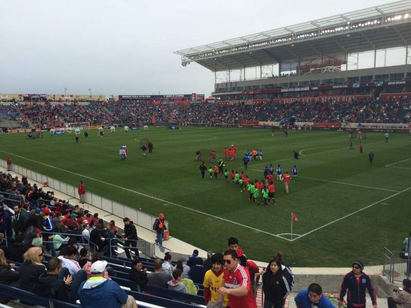 Seating view for Toyota Park Section 101 Row 15 Seat 12