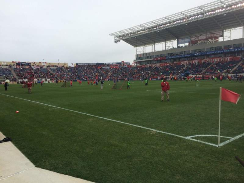 Seating view for Toyota Park Section 102 Row 1 Seat 1