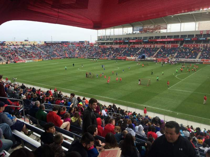 Seating view for Toyota Park Section 103 Row 27 Seat 6