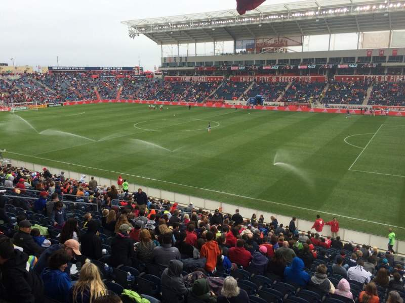 Seating view for Toyota Park Section 104 Row 25 Seat 2