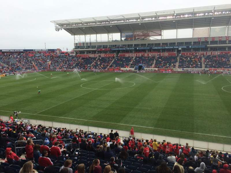 Seating view for Toyota Park Section 105 Row 25 Seat 7