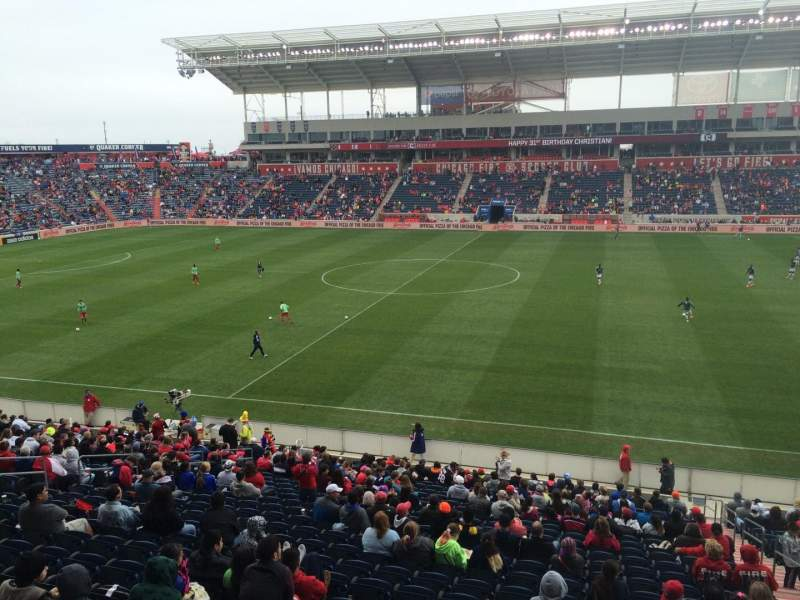 Seating view for Toyota Park Section 106 Row 25 Seat 3