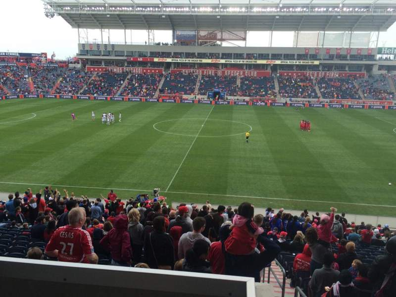 Seating view for Toyota Park Section 107 Row 15 Seat 1