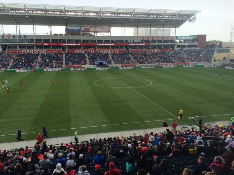 Seating view for Toyota Park Section 108 Row 25 Seat 11